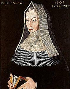 Margaret Beaufort Tudor, wife of Edmund Tudor and mother of King Henry VII.  Grandmother of Henry VIII.