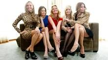 The Real Housewives of Vancouver cast (from left): Reiko MacKenzie, Mary Zilba, Christina Kiesel, Jody Claman and Ronnie Seterdahl (Darryl Dyck/The Globe and Mail)