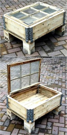 pallet table with st