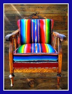 Bright Native American Print Chair...