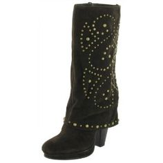 LOVELY PEOPLE Noa Womens Faux Suede Mid Calf High Heel Boot Size 9 (Apparel)