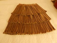 Vintage Jeanne Marc Three Layer Gold Skirt Sz 4 6 | eBay