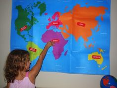 Week 1 - Geography  Montessori inspired continents and oceans free printables year 2 week 1