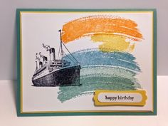 Traveler, Work of Art, Masculine Card, Stampin' Up!, Rubber Stamping, Handmade Cards, Birthday Card