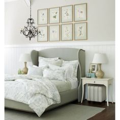 Wilshire Upholstered Bed with Brass Nailheads | Ballard Designs