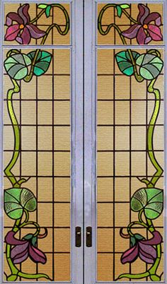 Google Image Result for http://www.architecturalantiques.com/723/Item%25203360%2520pair%2520of%2520art%2520nouveau%2520stained%2520glass%2520doors,%2520window%2520detial.jpg