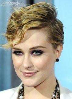 Short, Messy Hairstyles: Evan Rachel