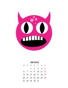 DIY Printable Monster Calendar | Handmade Charlotte