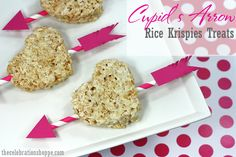 Easy Cupid's Arrow Valentine Rice Krispies Treats | TheCelebrationShoppe.com