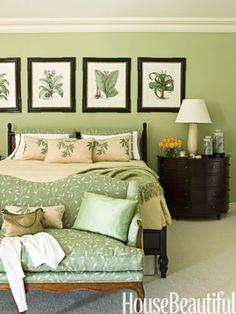 Green Bedrooms - Green Paint Bedroom Ideas - House Beautiful