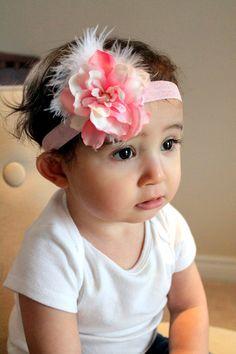 baby headband, baby girl headband, toddler headband, hair accessory, baby flower headband- photo props. $7.00, via Etsy.