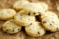 Chocolate Chip Scone Recipe -- a super simple scone recipe that's not overly sweet, even with the addition of the chocolate chips!