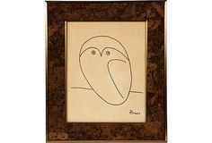 Print of Picasso's Owl Line Drawing