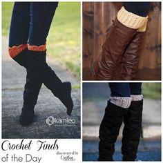 crochet boot cuff patterns