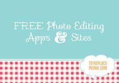 #FREE #Photo editing to replace picnik.com #craft