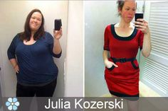 Want to get PAID to PIN? CLICK the PICTURE and watch the video to learn how. Julia Kozerski weighed 338 pounds after her wedding in 2009. But after watching her weight balloon up for long enough, she decided to make some changes. Over the course of the next year, Julia managed to lose 160 pounds and she documented her journey each step of the way in fitting rooms using her iPhone.