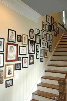 Love the family photos on the staircase