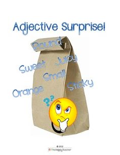 Adjective Surprise: What's in the Bag?  A great, interactive homework activity for teaching adjectives! $