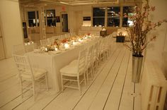 long table for wine gala
