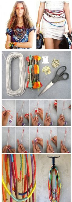 DIY: Interesting Easy Craft Ideas - Fashion Diva Design Kind of like this but that looks like easy to much work!