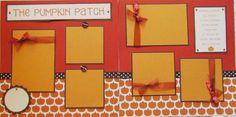 pumpkins scrapbook layout