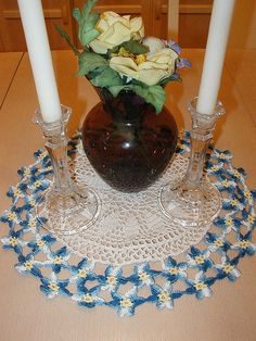 forget me not doily