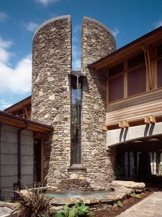 The stonework really makes this house stand out - certainly not a run-of-the-mill house!