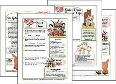 Quiet Time Handout Printable for Ladies Ministry.