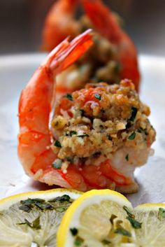 Scampi stuffed shrimp