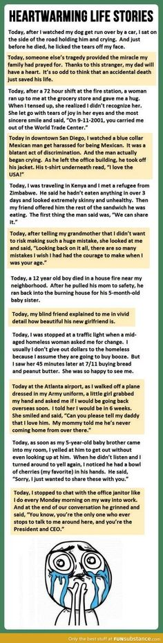Beautiful heartwarming stories. They get better as you read through them :')