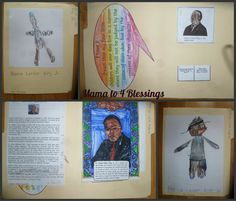 Martin Luther King Jr. Lapbook & Craft from Mama to 4 Blessings