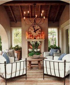 back patio, living spaces, outdoor rooms, clock, covered patios, candl, outdoor living rooms, outdoor spaces, porch