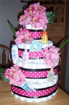 Check out our creative baby diaper cakes. Take an additional 10% with coupon Pin60 at www.CreativeBabyBedding.com