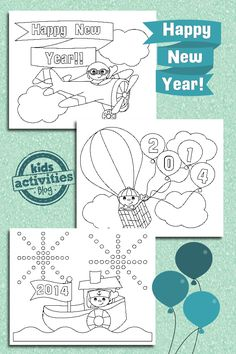 New Years Coloring Pages for Kids - Kids Activities Blog