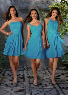 Shop all of our fabulous bridesmaid styles by color! #davidsbridal #somethingblue #blueweddings