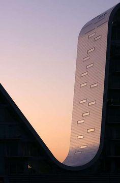 Vejle, Denmark (The Wave by Henning Larsen Architects).