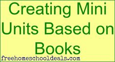 Creating Mini Units Based on Books
