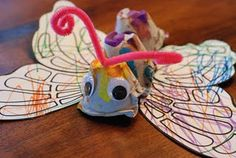 Knutselen 3d: Egg carton butterfly egg cartons, egg carton butterfly