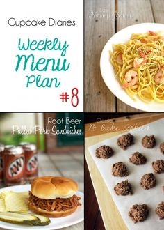 Cupcake Diaries Weekly Menu Plan #8