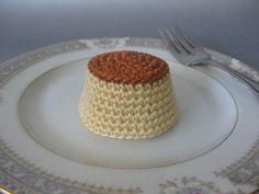Flan - free pattern free pattern, crochet patterns, crochet dessert
