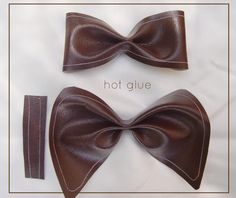 Leather Bow tutorial (can see it used in a Steampunk costume )