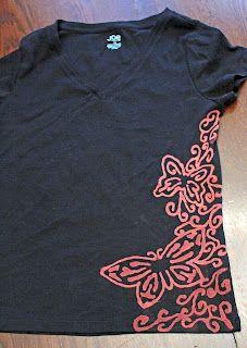 Butterfly Bleach Pen Shirt