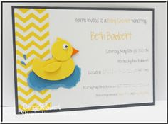 InkspiredTreasures.com » Blog Archive » Rubber Ducky Baby Shower Invitation