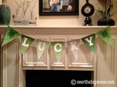 St Patrick's Day Bunting - free printable