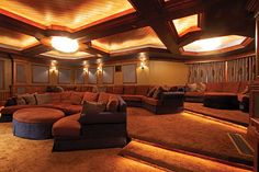 Casual and Luxurious | Home Theater