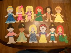 Disney Princess Paper Doll Craft