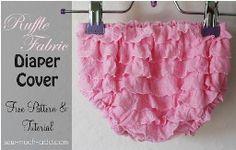 Free pattern: Newborn diaper cover from ruffle fabric