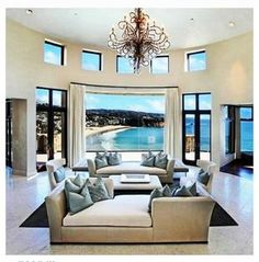 ocean views, living rooms, dream homes, the ocean, the view