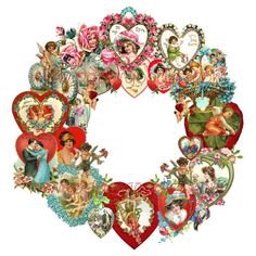 Vintage Valentine's Day wreath