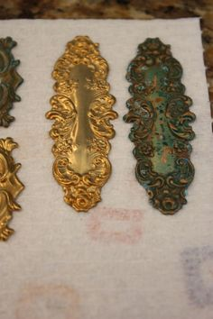 How to Verdigris Patina metal findings